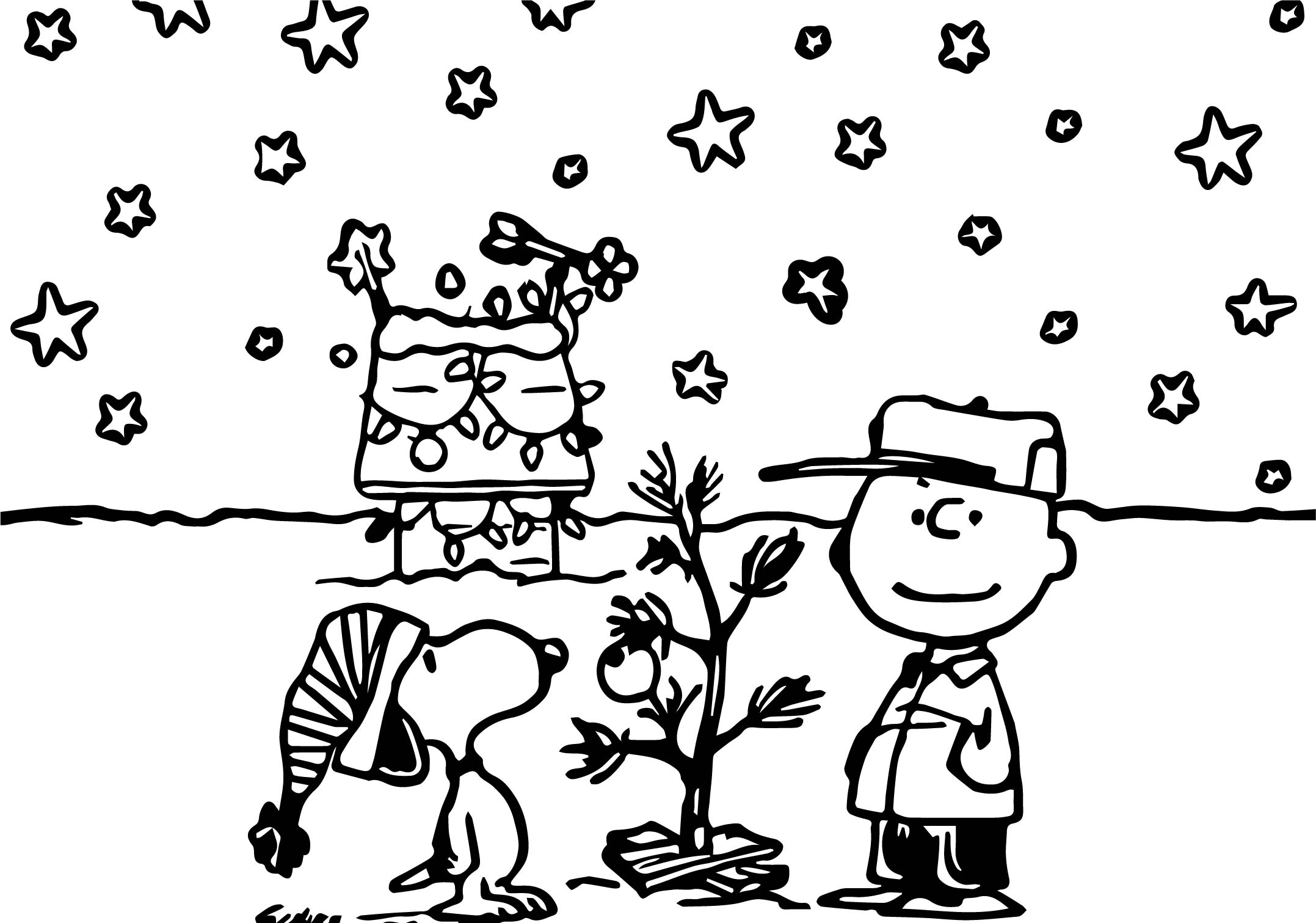 2155x1511 Snoopy Christmas Coloring Pages