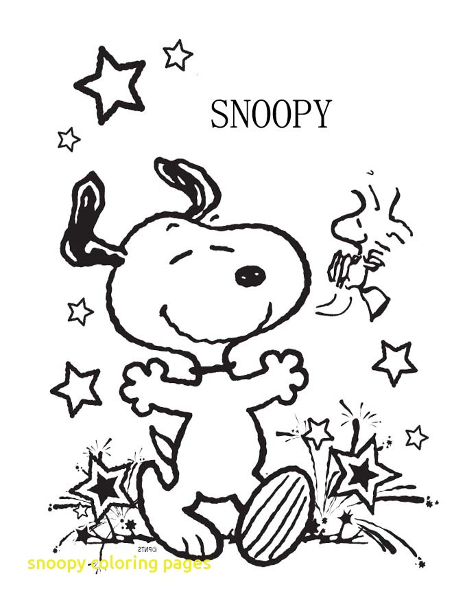 678x877 Snoopy Coloring Pages With Coloring Pages