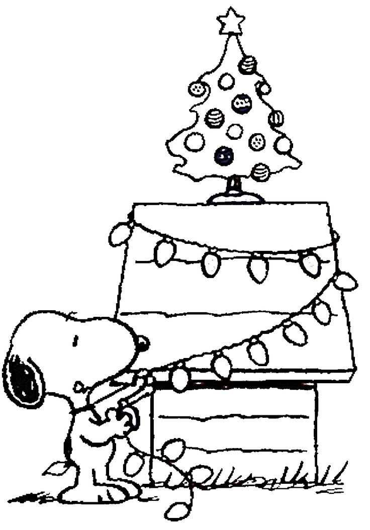 736x1054 Snoopy Christmas Coloring Sheets Free Printable Charlie Brown