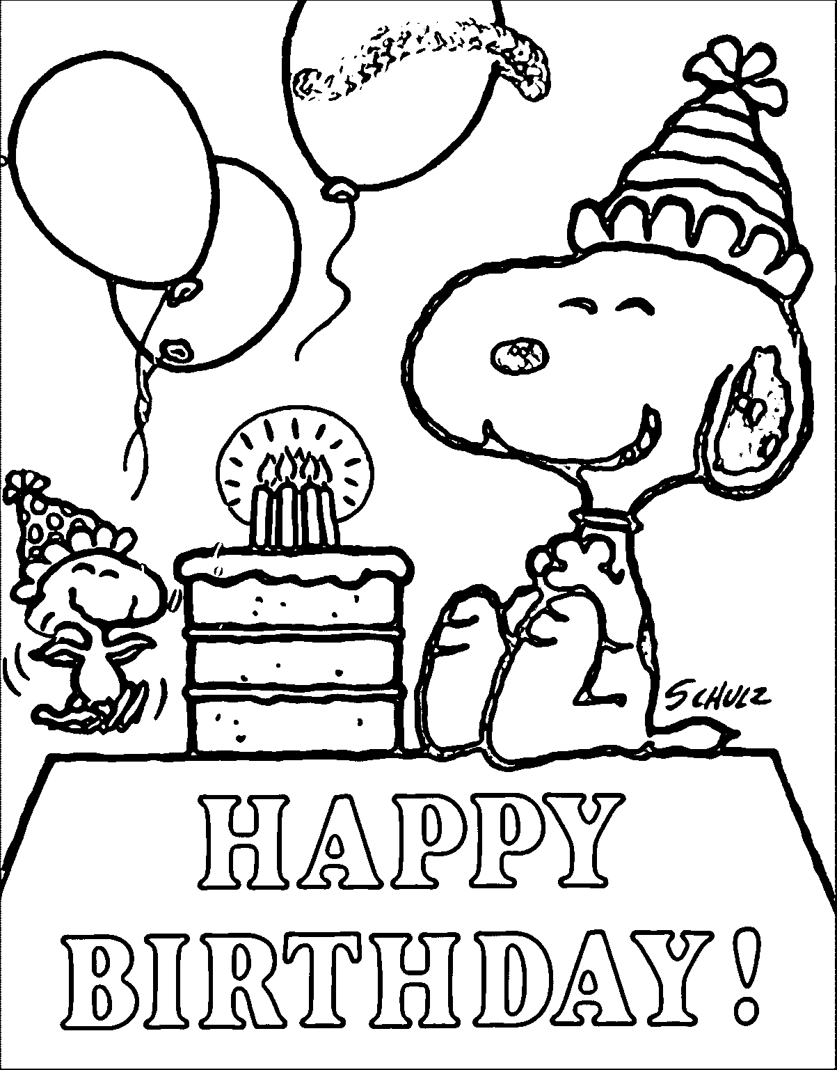 Snoopy Coloring Pages To Print at GetDrawings.com | Free for ...