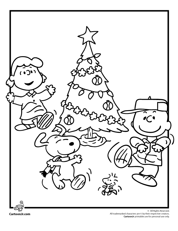 680x880 Peanuts Gang Christmas Coloring Page Christmas