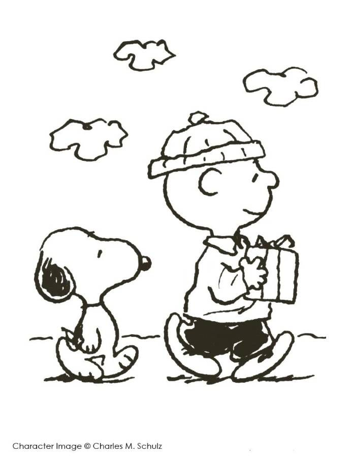 695x900 Print Charlie Brown And Snoopy Christmas Coloring Page Or Download