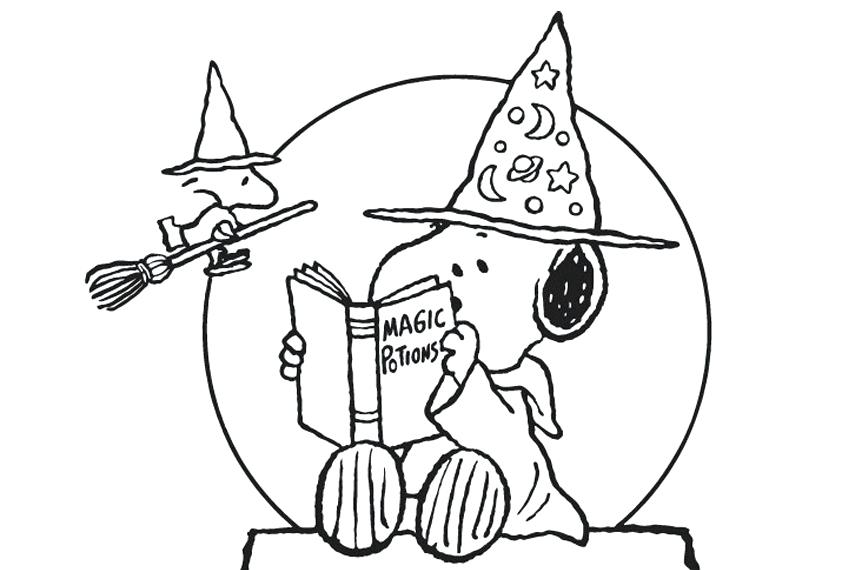 850x570 Snoopy Coloring Pages