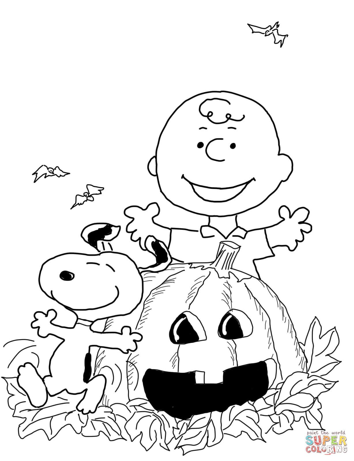 1228x1600 Charlie Brown Halloween Coloring Page From Peanuts Category