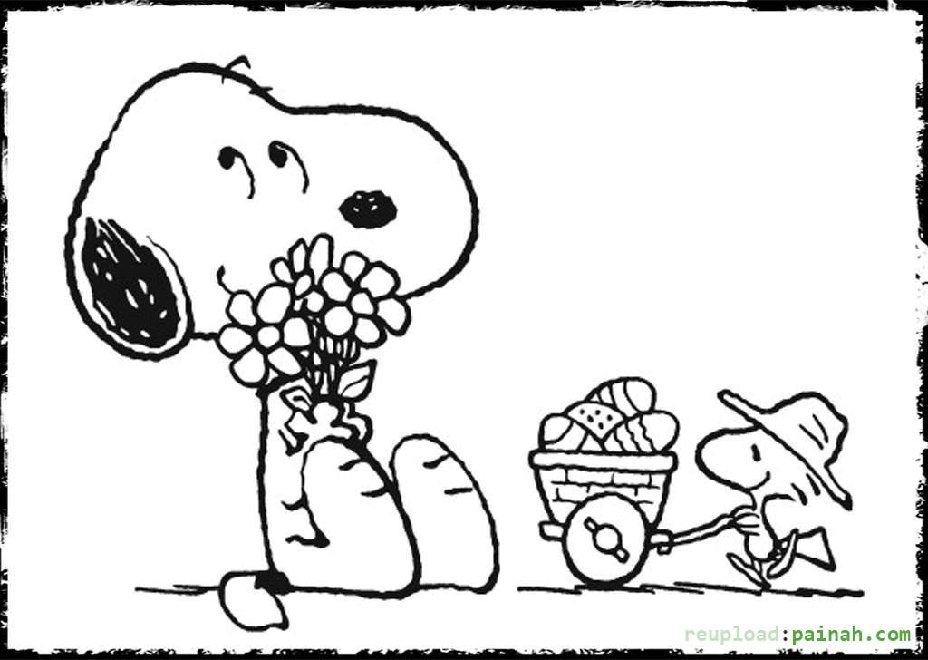 1024x728 Peanuts Easter Coloring Pages