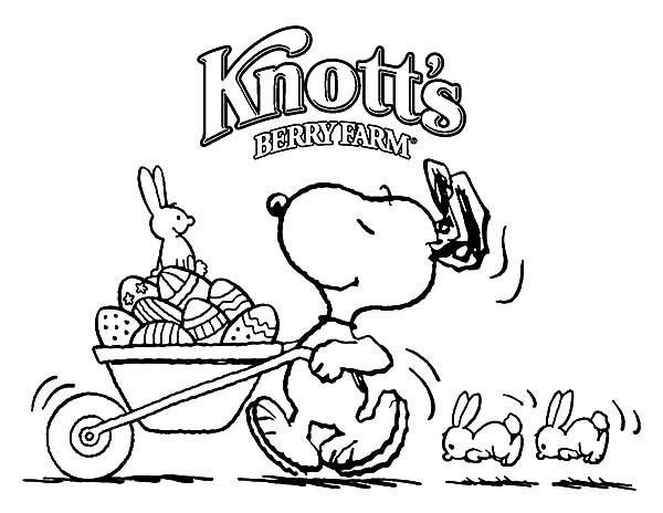 600x464 Snoopy Push Cart Full Of Easter Eggs Coloring Pages Best Place