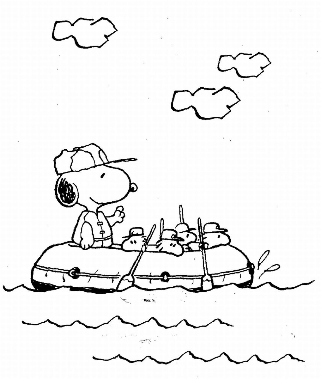 1098x1297 With Free Snoopy Coloring Pages
