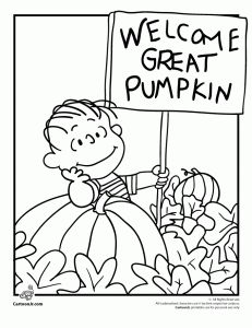 Snoopy Halloween Coloring Pages