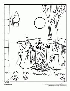 Snoopy Halloween Coloring Pages | Halloween coloring pages ... | 300x231