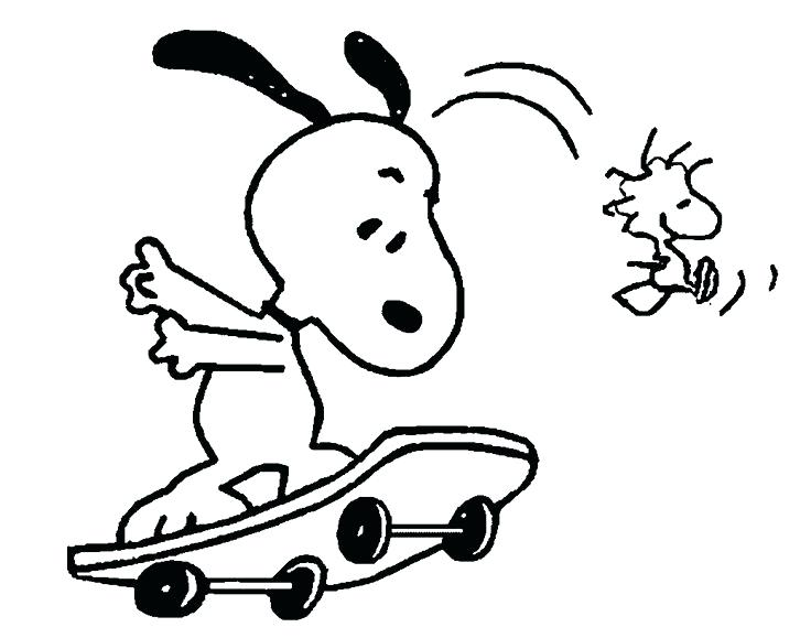 736x579 Snoopy Coloring Page For Kids Adult Printable Snoopy Coloring