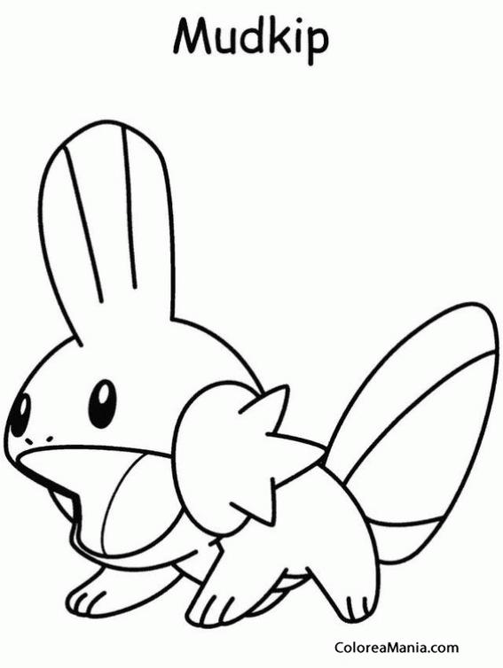 567x754 Colorear Pokemon Mudkip Dibujo Para Gratis On Pokemon Snorlax