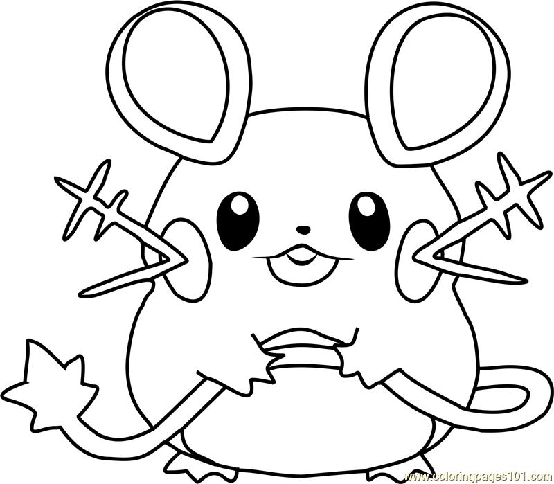 800x699 Dedenne Pokemon Coloring Page