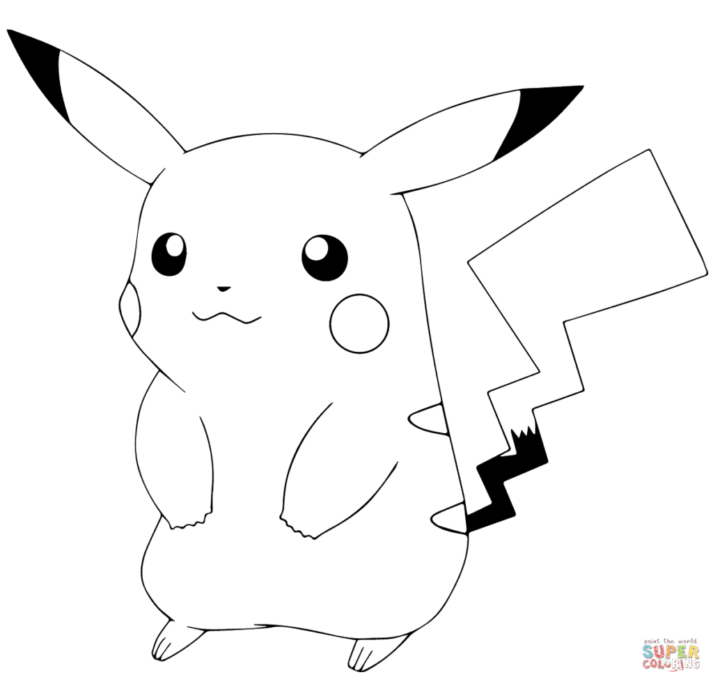 1024x982 Pikachu Coloring Pages Printable