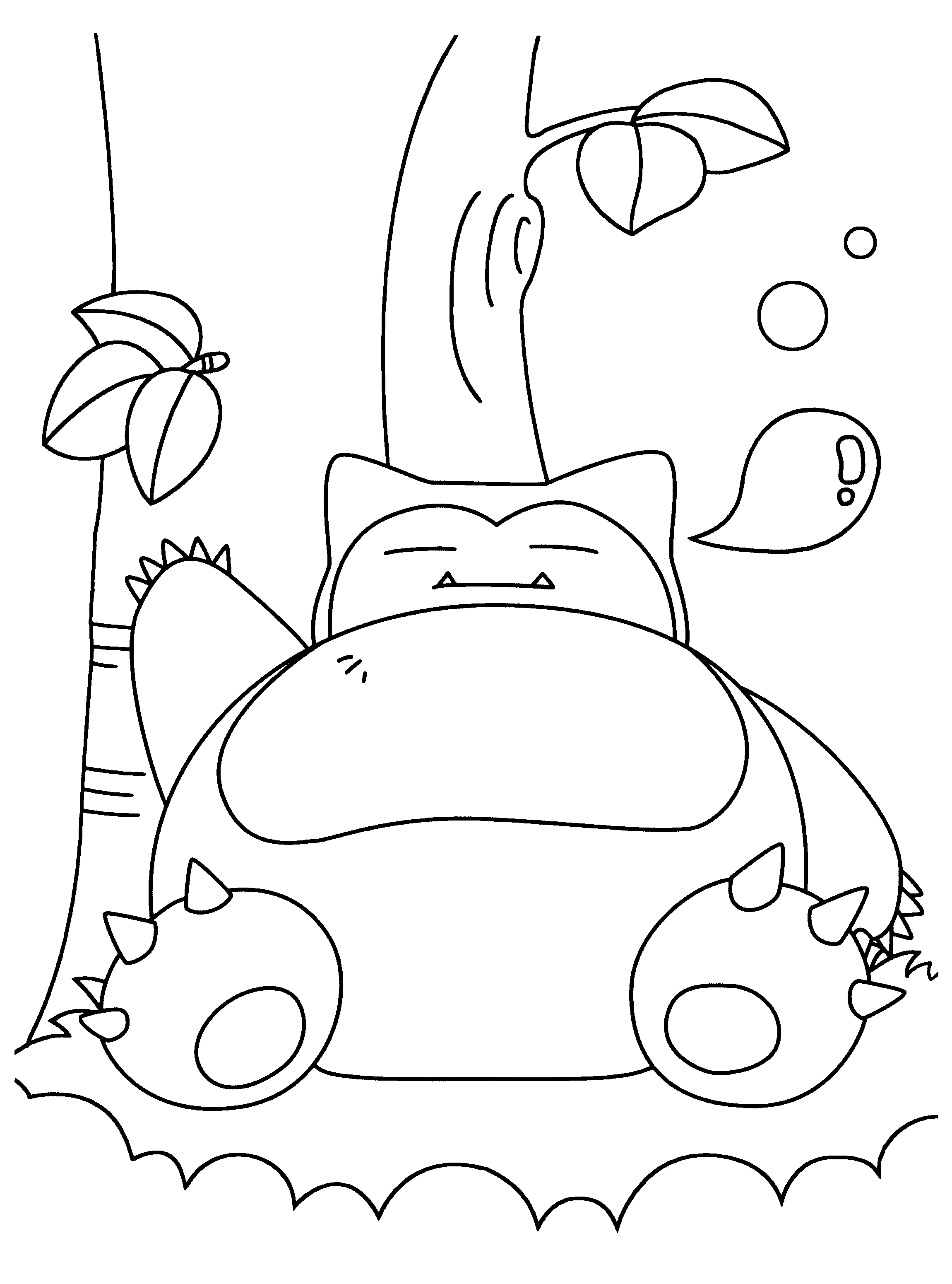 2300x3100 Snorlax Coloring Pages Collections Free Coloring Pages