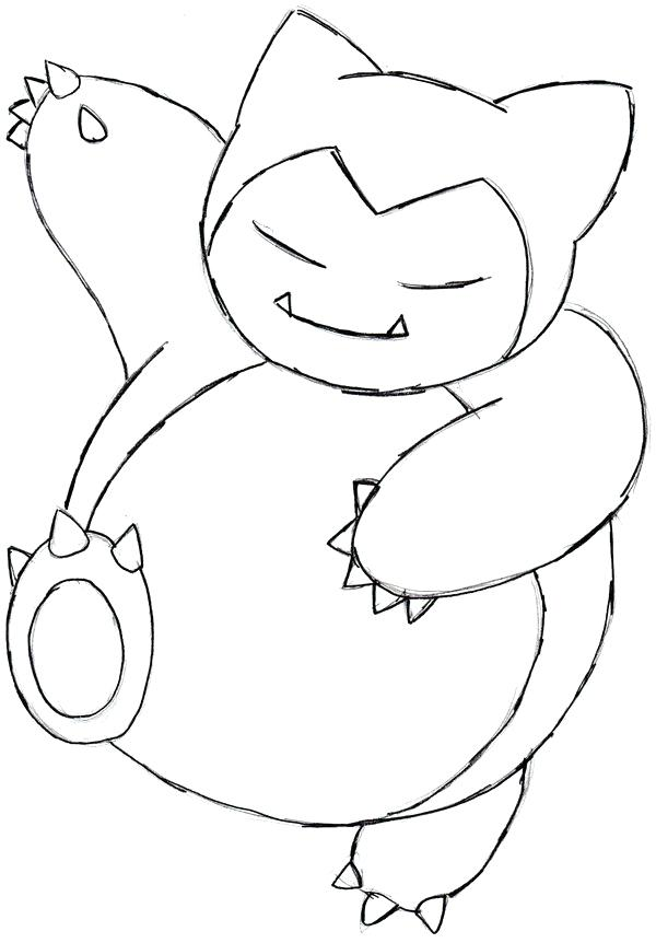 600x862 Snorlax Coloring Pages Coloring Pages Drawings Coloring Pages