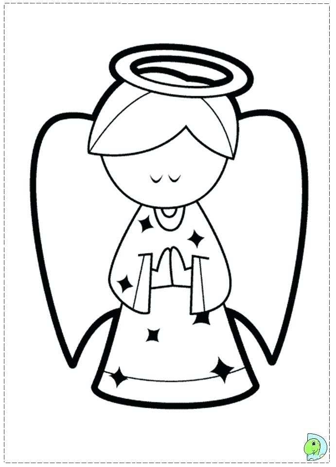 Snow Angel Coloring Pages