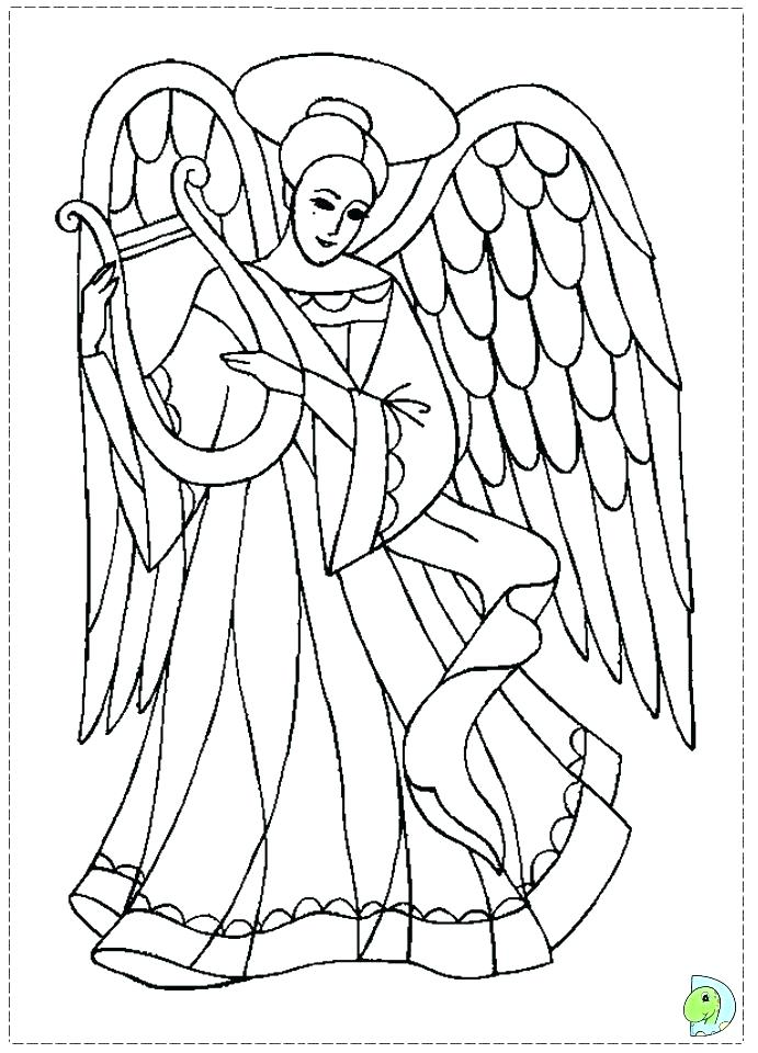 691x960 Angel Pictures To Color Or Angel Coloring Page Printable