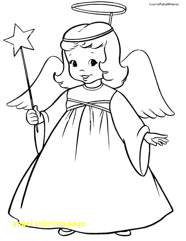 603x779 Coloring Page Angel Angel With Trumpet Coloring Page Angela