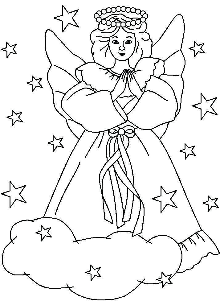 714x989 Angel Coloring Pages For Preschool Awesome Snow Angel Coloring
