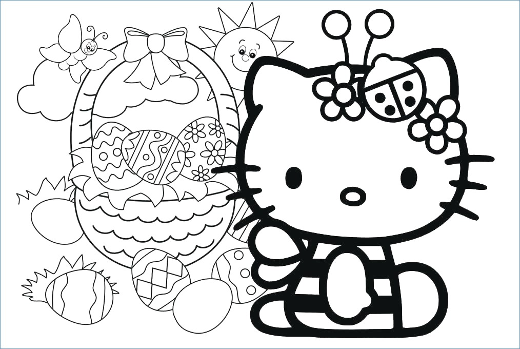 1014x680 Hello Kitty Snow Angel Christmas Coloring Page