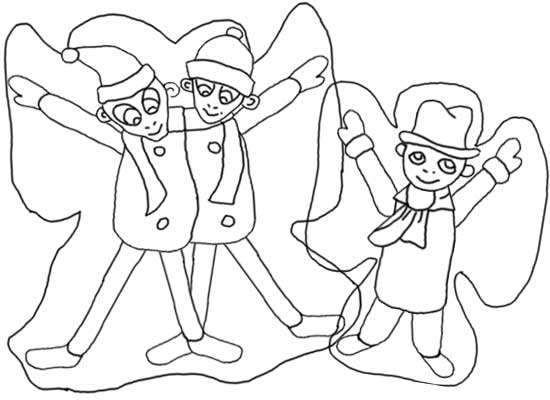 550x400 Making Snow Angels Coloring Pages!