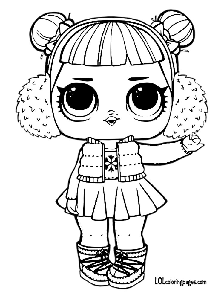 750x980 Snow Angel Color Pages Lol Surprise Doll Coloring Pages