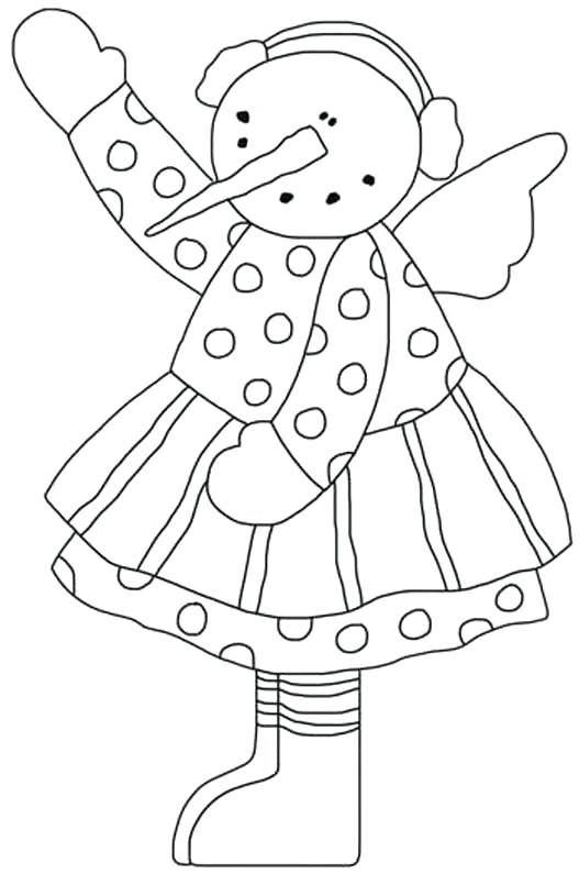 527x795 Snow Angel Colouring Page Big Coloring Free Pages