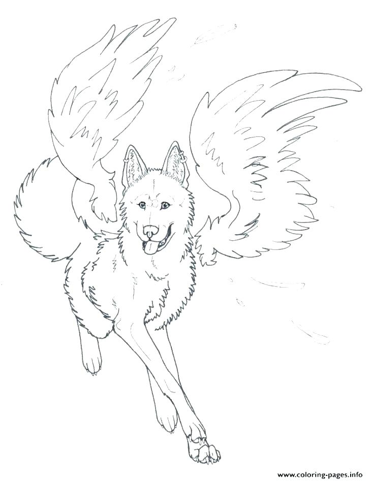 728x945 Printable Angel Coloring Pages