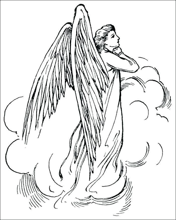 700x875 Angel Coloring Pages Printable Click To See Printable Version