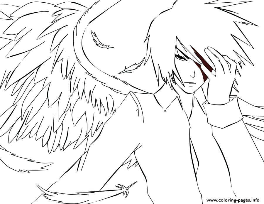 900x695 Angel Coloring Pages Printable White Anime Angel Coloring Pages