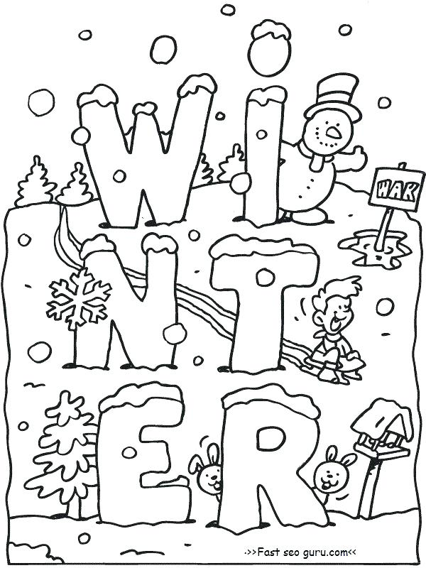600x800 Snow Coloring Pages Printable