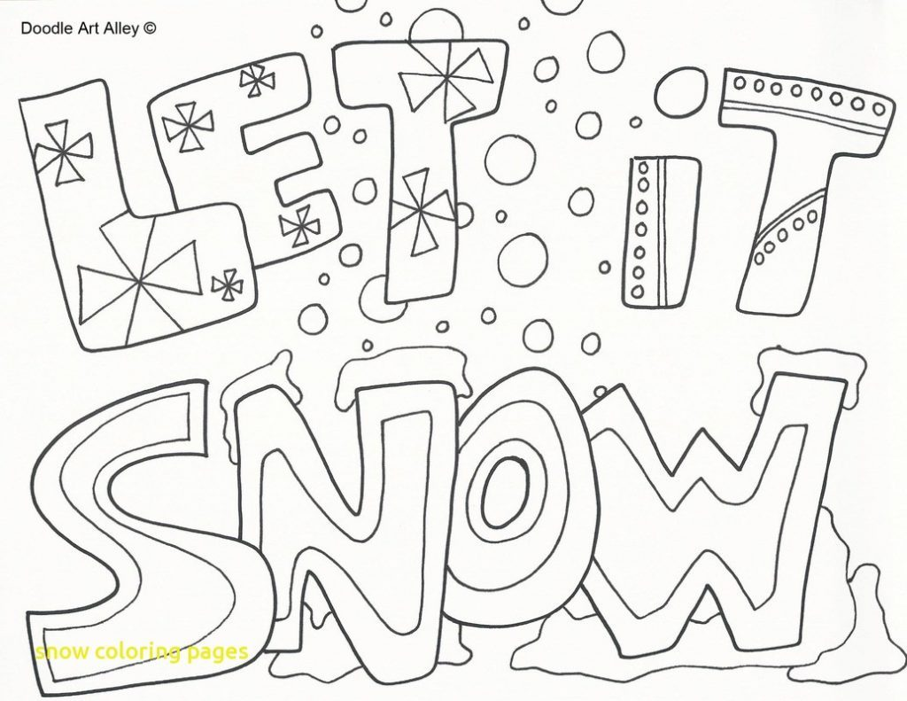 1024x791 Snow Coloring Pages