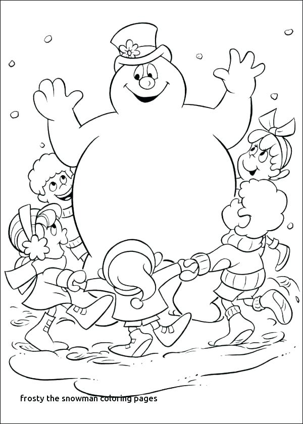 600x840 Coloring Page Of Snowman Snowman Coloring Pics And Printable