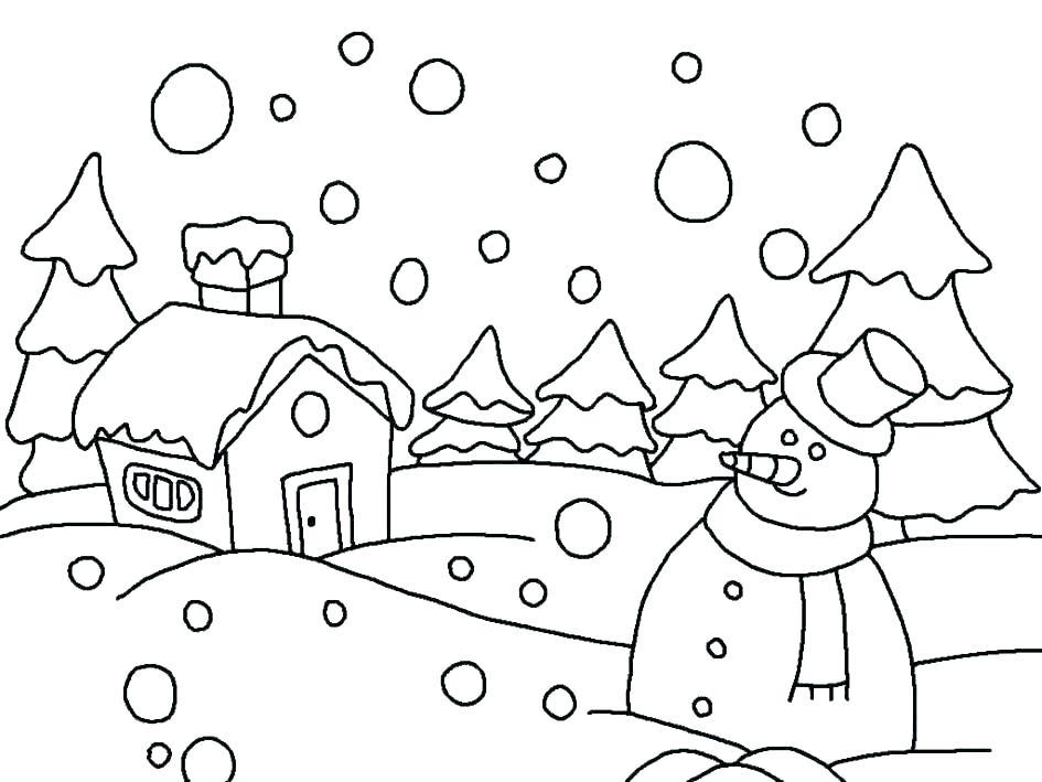 945x709 Snowy Day Coloring Page Snowy Day Coloring Page Snowy Day Coloring