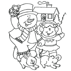 image about Free Printable Snowman Coloring Pages named Snow Coloring Webpages Printable at  Cost-free for