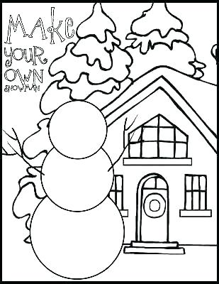 309x400 Christmas Snowman Coloring Pages