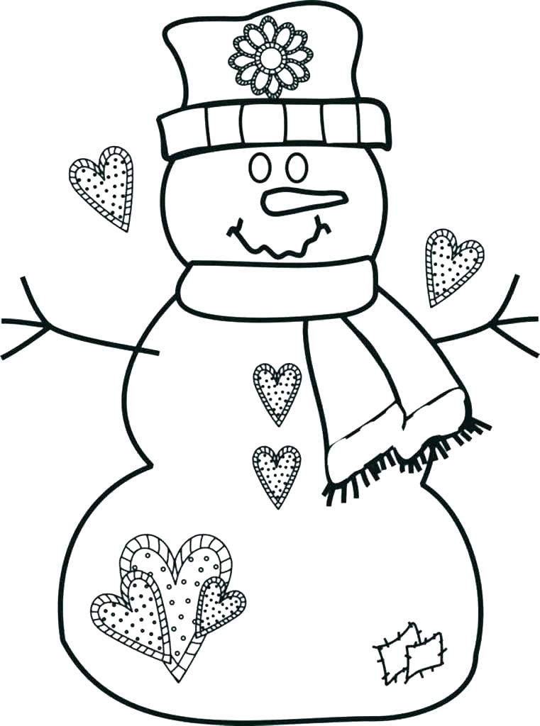 761x1024 Free Printable Frosty Snowman Coloring Pages
