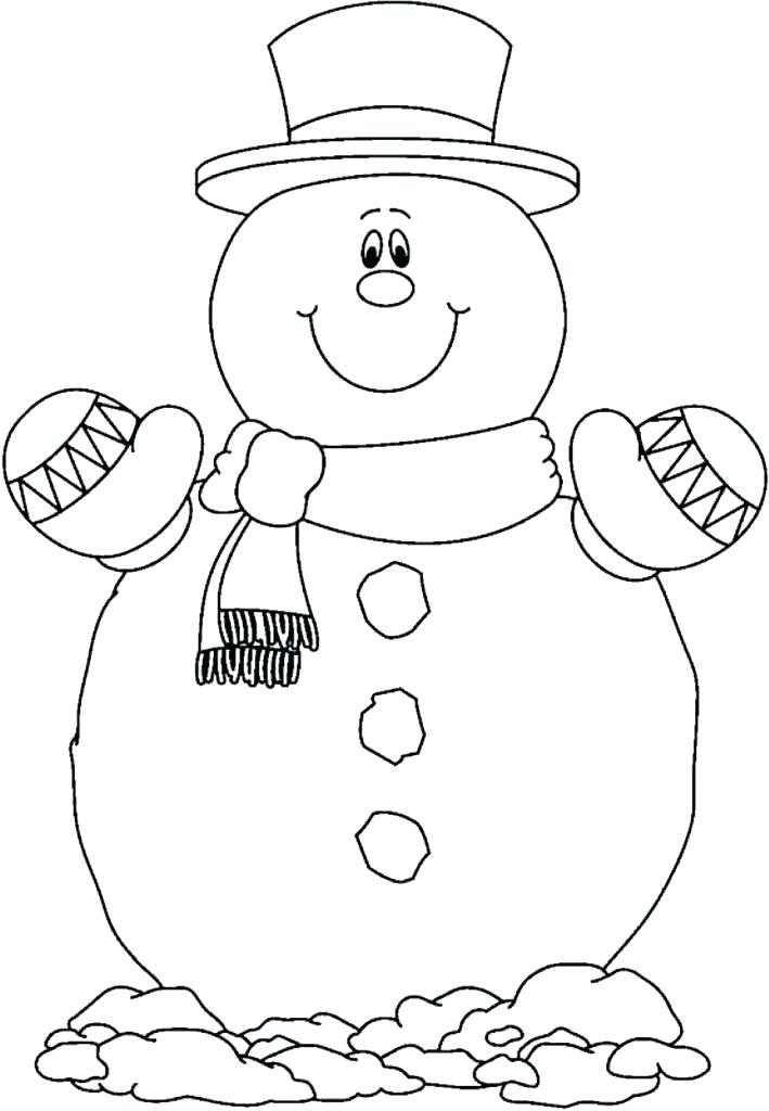 709x1024 Printable Snowman Coloring Pages