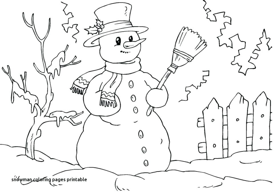 960x680 Printable Snowman Coloring Pages