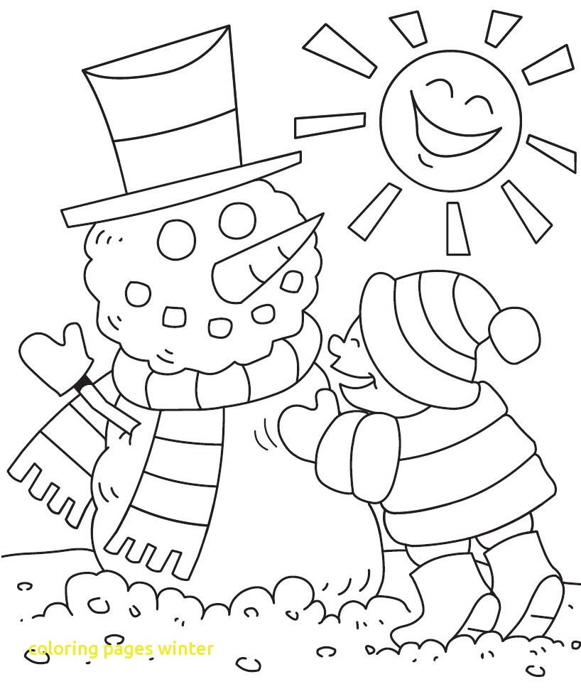 818x970 Snow Coloring Pages Winter With Free Ribsvigyapan Snowman Snow
