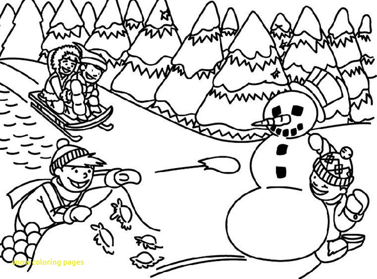 1273x942 Snow Coloring Pages With Winter Coloring Pages Free Printable Snow