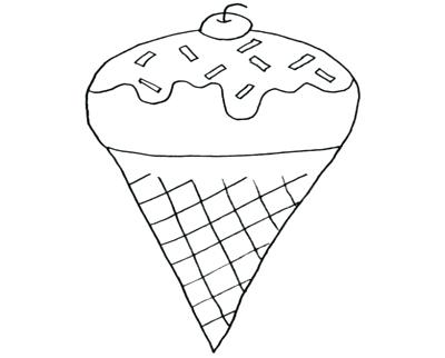 400x322 Ice Cream Cone Coloring Pages To Print For Cute Characters Cake