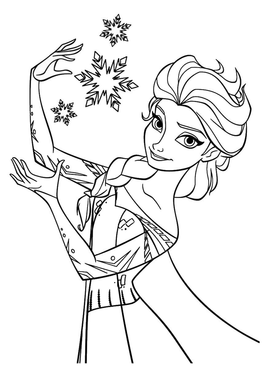 863x1200 Ice Queen Coloring Pages Fresh The Snow