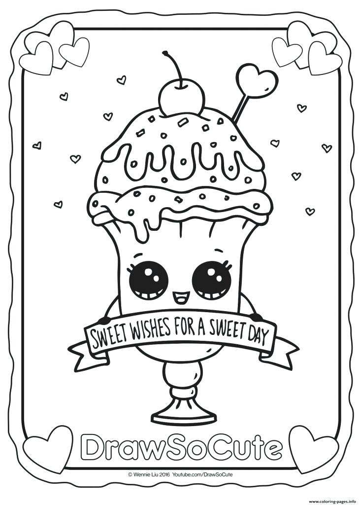 731x1024 Valentine Ice Cream Sundae Draw So Cute Coloring Pages Printable