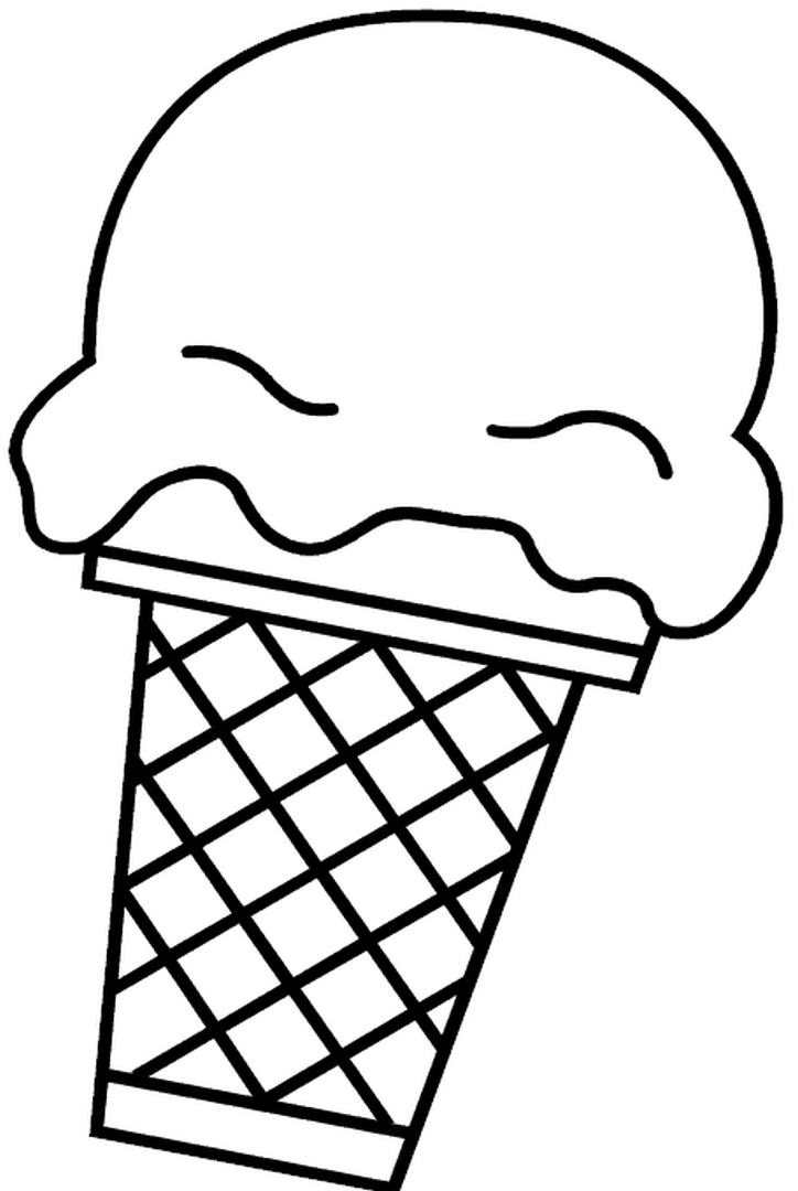 724x1080 Easy Coloring Sweet Ice Cream Cone Easy Coloring Pages For All