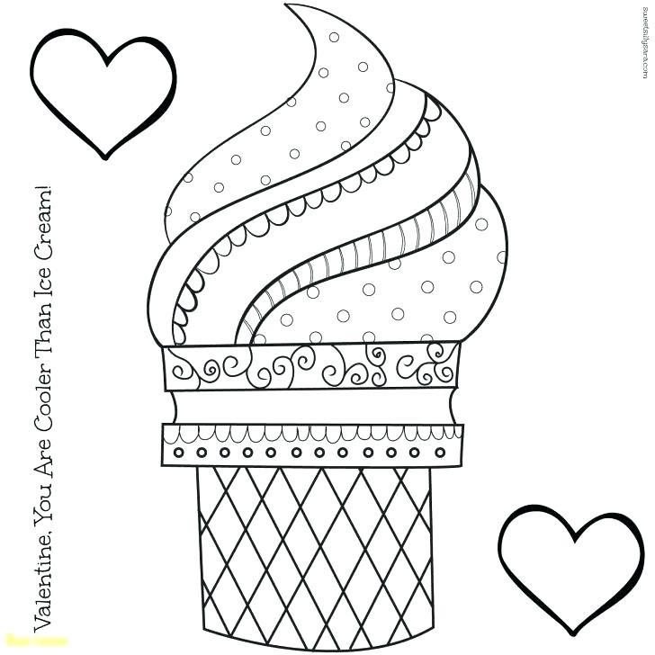 728x728 Ice Cream Cone Coloring Page