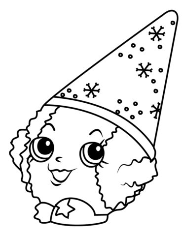 371x480 Snow Cone Coloring Page Snow Crush Shopkin Coloring Page Free