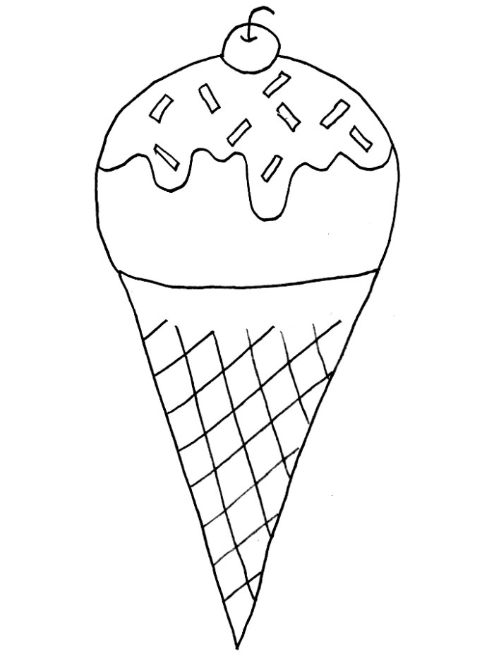 700x933 Coloring Pages Of Ice Cream Cone With Cherry Coloring Pages