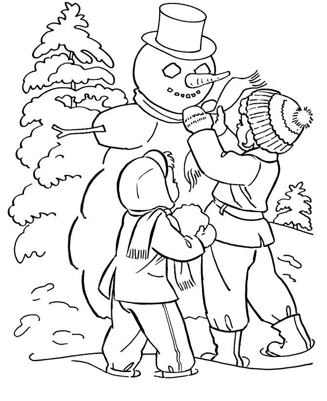 Snow Day Coloring Page