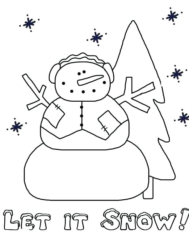 612x792 Snow Coloring Page Snow Coloring Page Let It Snow Coloring Page